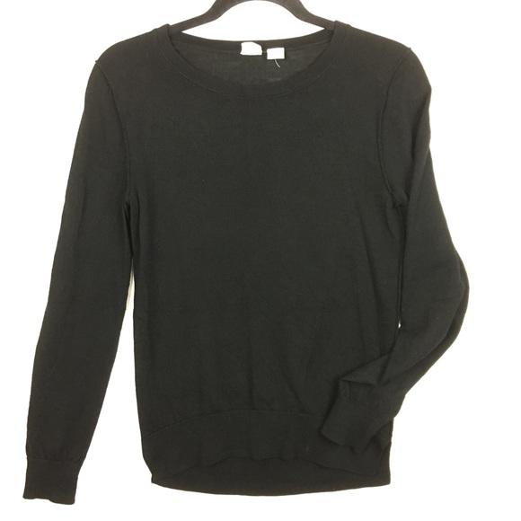 628236ce0 Gap Classic Black 100% Merino Wool Sweater Small